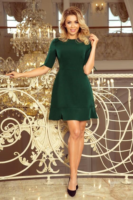 Tmavozelené dámske šaty 4051