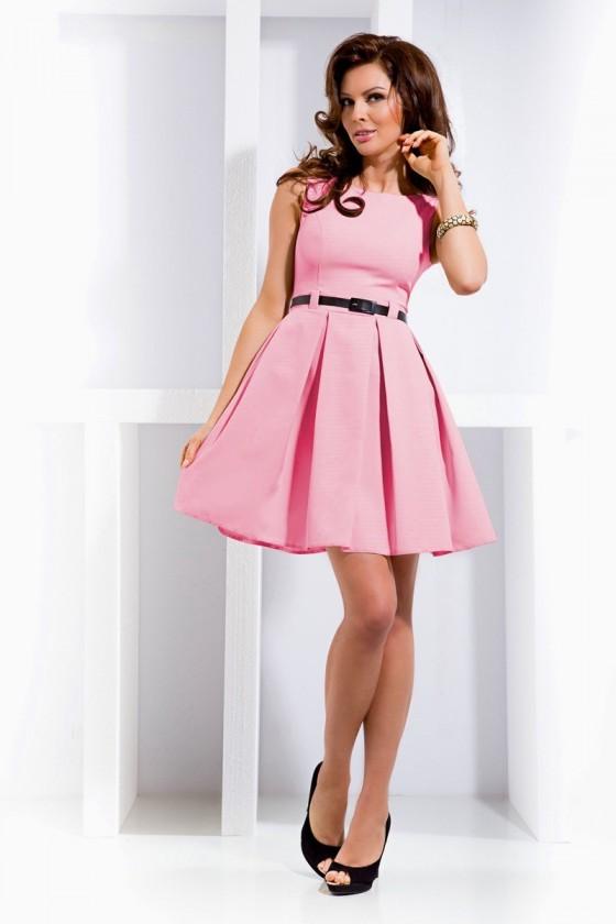 6-5 šaty s složence - ruzove