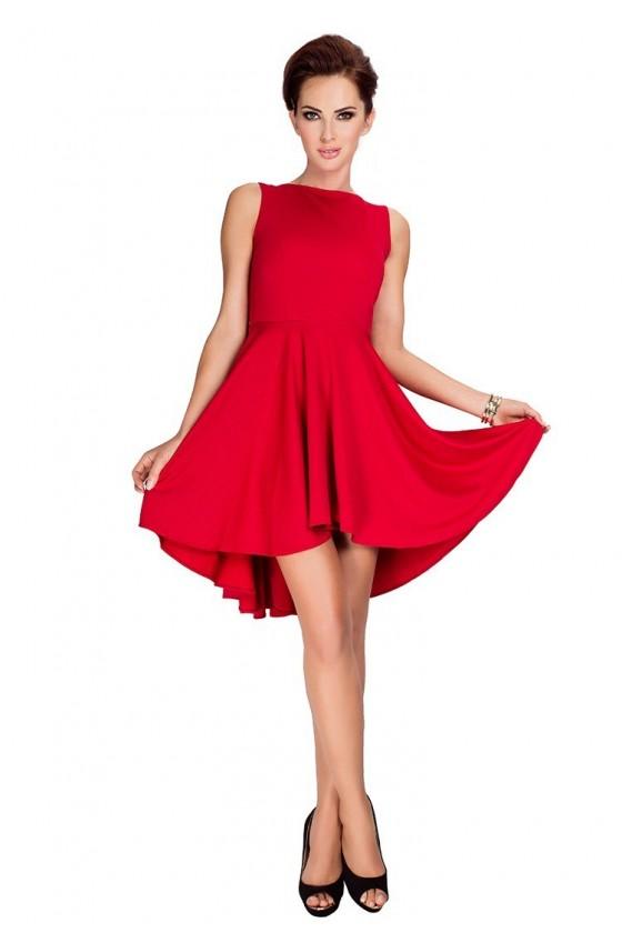 Lacosta - Exclusive asymetrické šaty - cervene 33-2