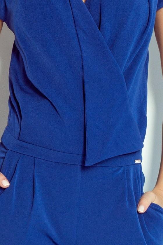 Elegantný dámsky modrý overal