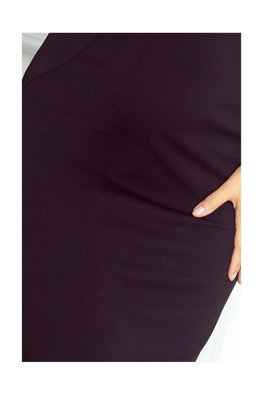 Přiléhavé šaty - cerny 53-9A