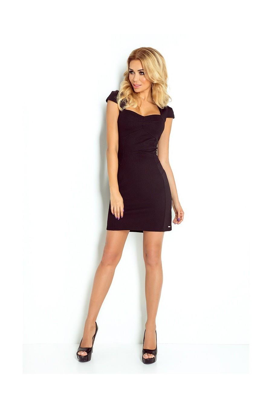 šaty s rukávy - cerny 118-5