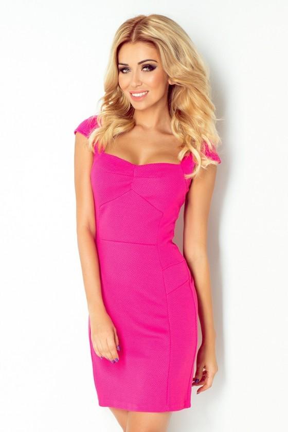 šaty s rukávy - ruzove 118-3
