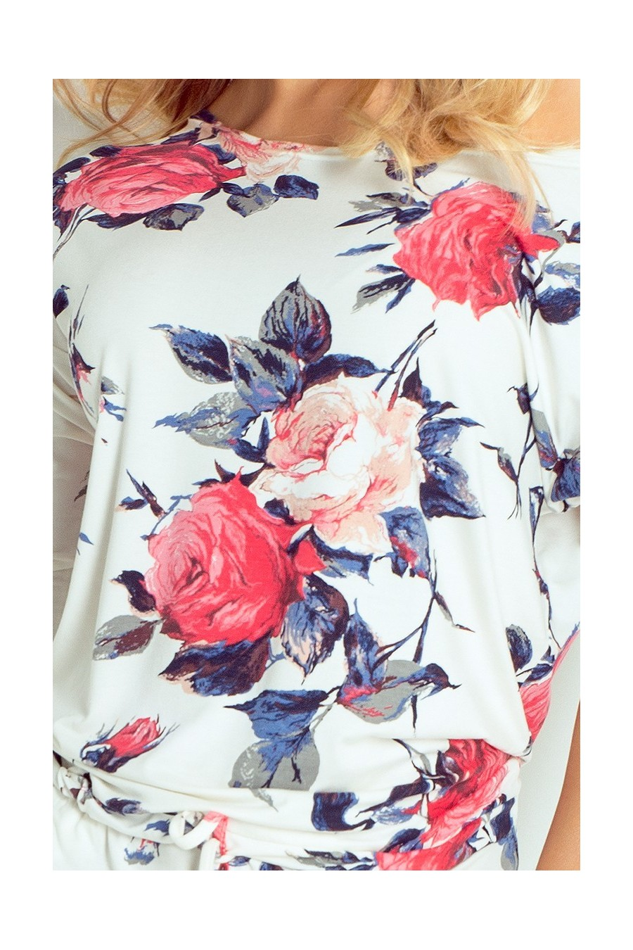 Sportovní šaty - barevné velké květy 13-49