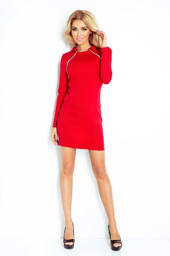 130-2 šaty se 2 zámky - cervená