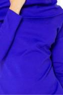 Šaty s golfem - modre 131-2