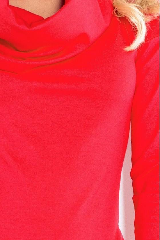 Šaty s golfem - cervene 131-4