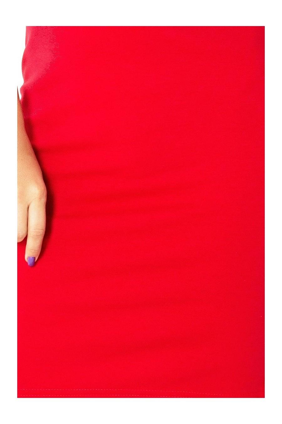 132-2 šaty se štěrbinou - cervená