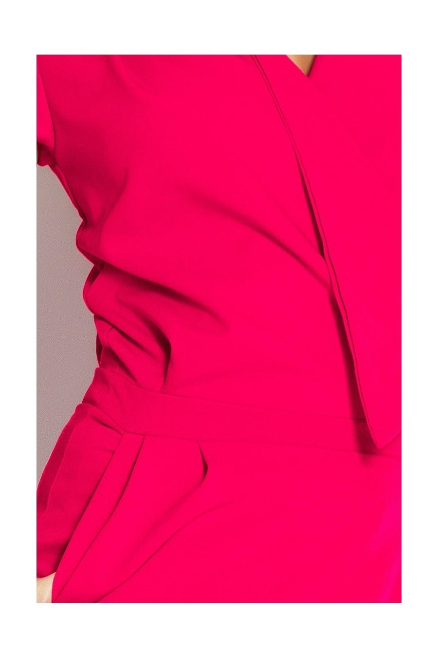 Šaty předpokládat, výstřih - ruzová 94-9