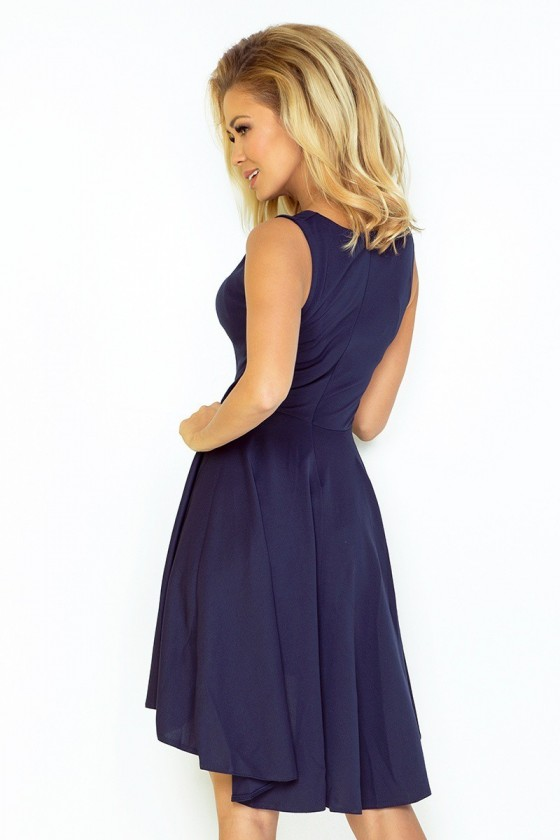 Exclusive asymetrické šaty - tmave modre 33-3