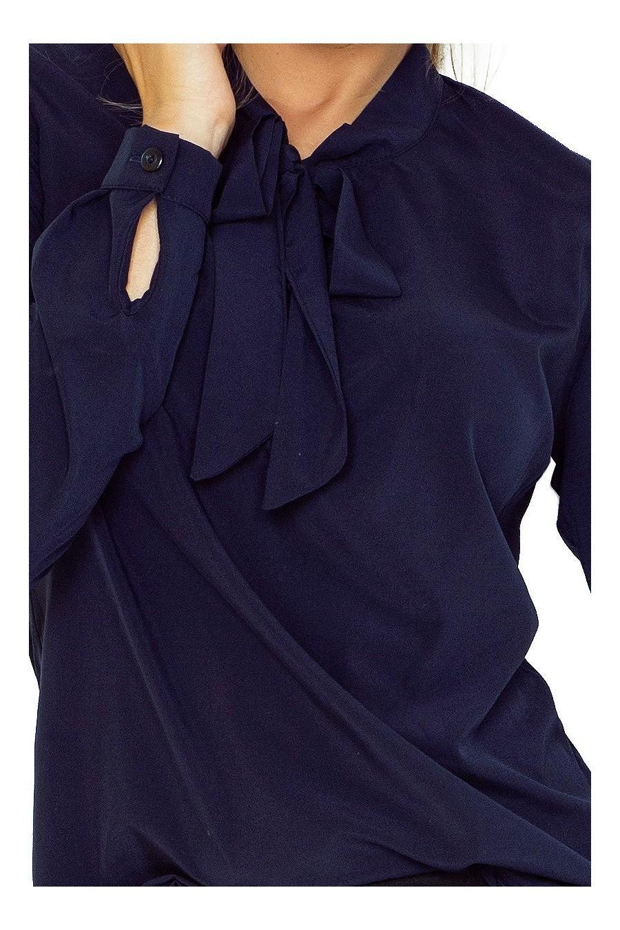 Blůza s vazbou - tmave modre 140-4