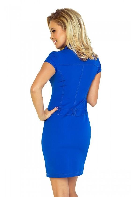 Šaty s knoflíky - modrá 142-3