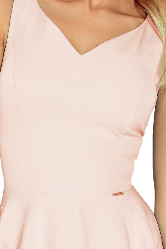 Dress circle - heart-shaped neckline - svetle ruzove 114-8