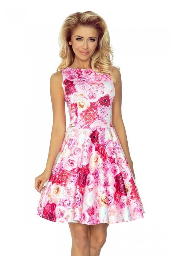 125-16 šaty - růžové růže
