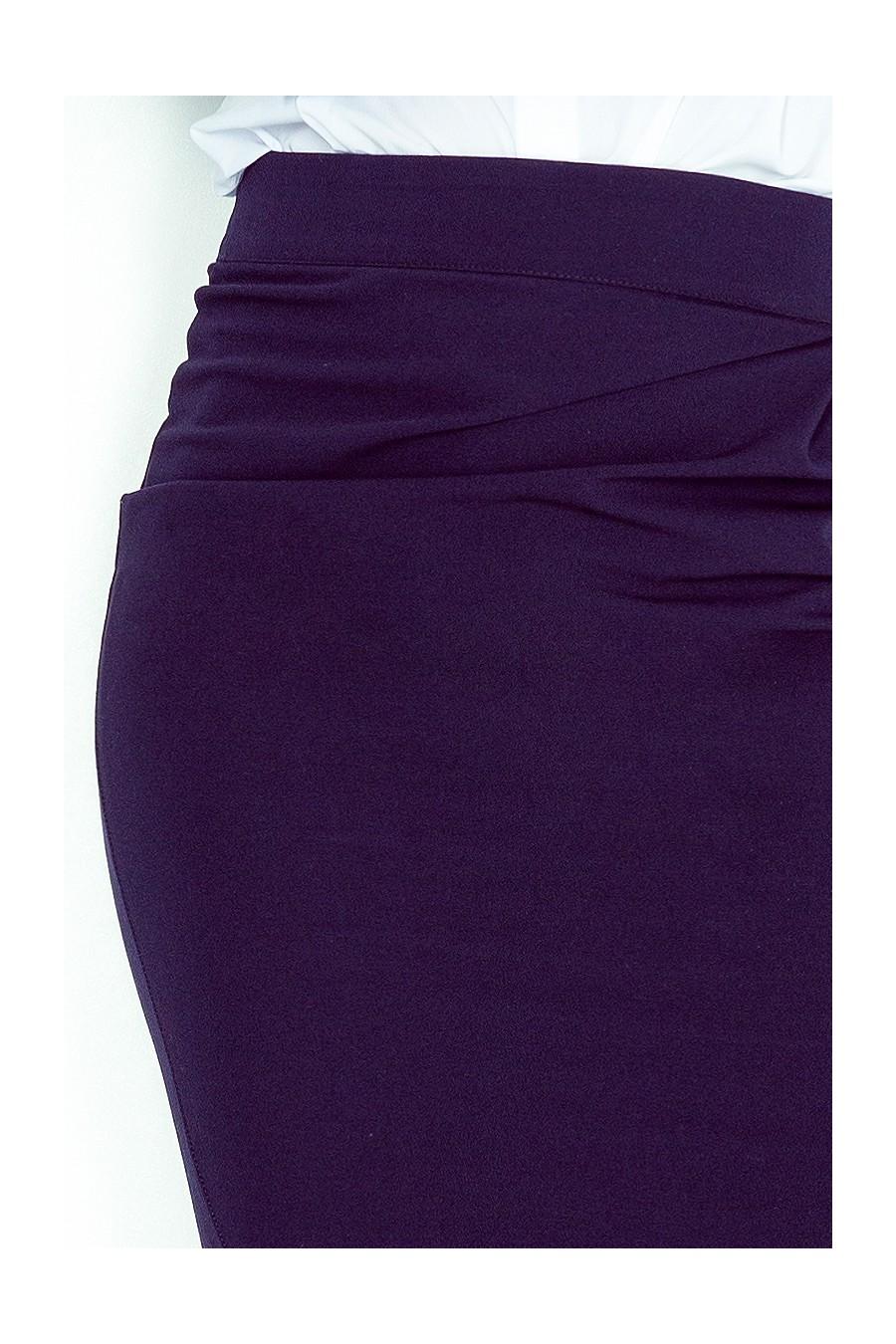 Sukně s záhybů - tmave modre MM 001-2