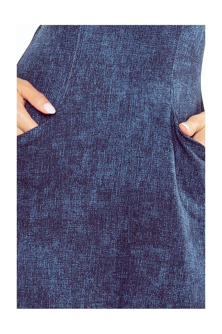 155-2 Šaty ve tvaru lichoběžníku - tmavé jeans