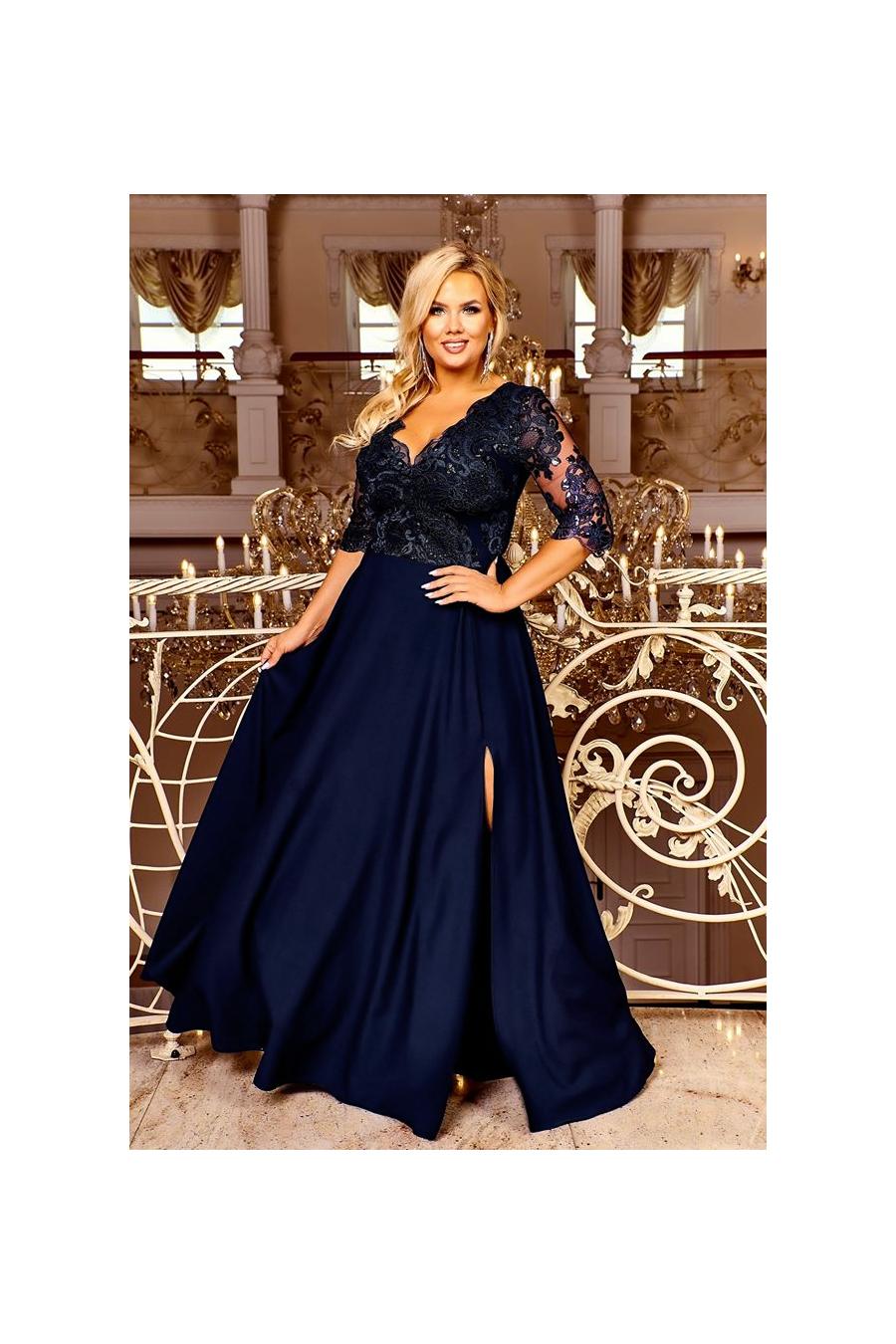 Pôvabné dámske šaty pre moletky 4163