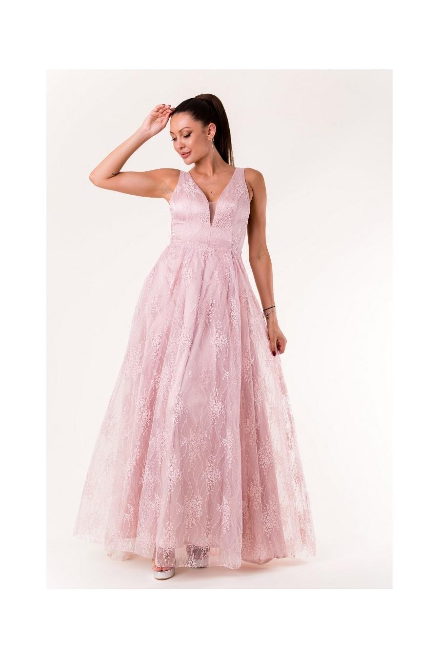 Čipkované spoločenské šaty 3432