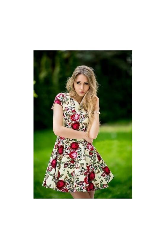 Dámske kvetované šaty 4182