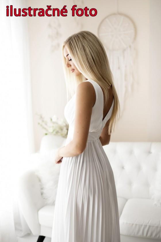 Plisované spoločenské šaty 30007