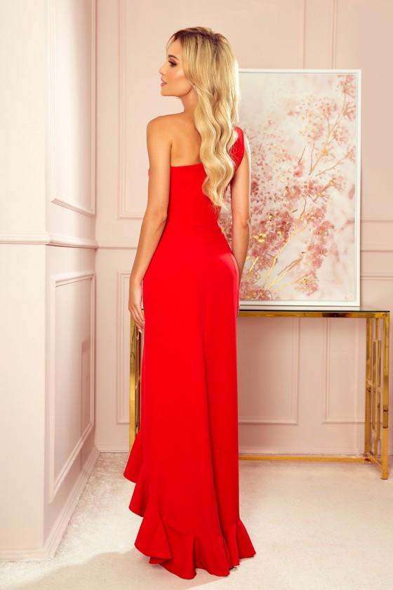 Dámske šaty na jedno rameno 30009