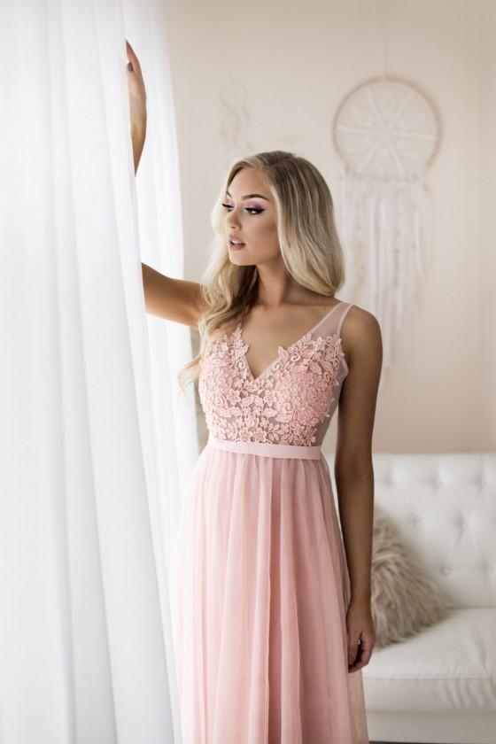 Pôvabné spoločenské šaty 30011