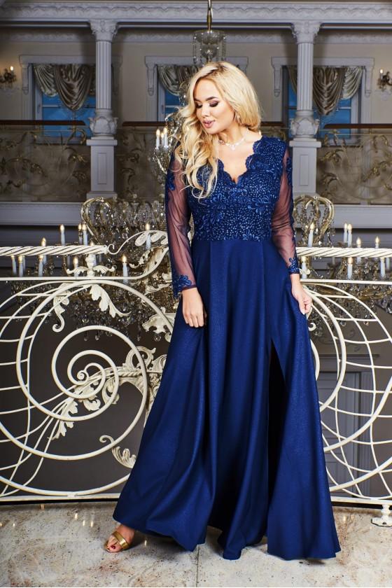 Elegantné spoločenské šaty 30037
