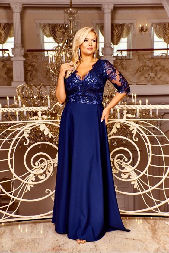 Dámske šaty s rukávom 30039