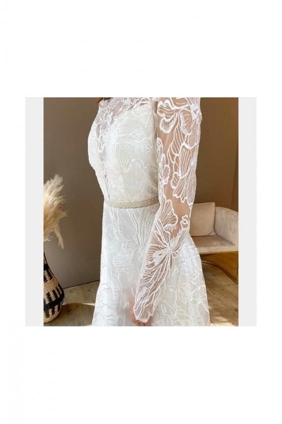 Svadobné šaty s rukávom 30044