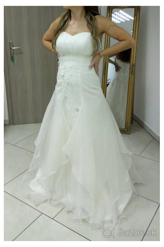 Svadobné šaty na šnurovanie 30046