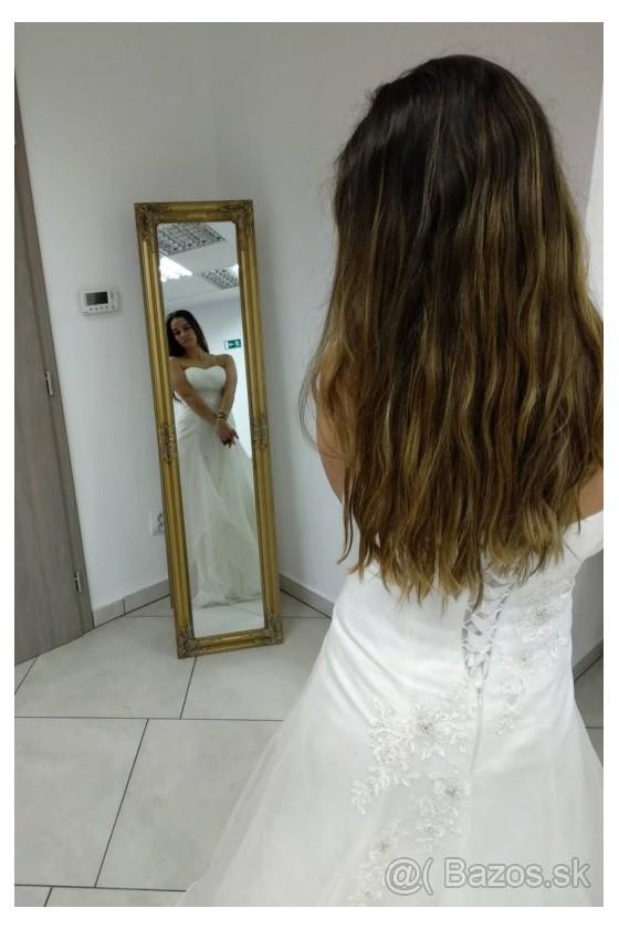 Svadobné šaty na šnurovanie 30042