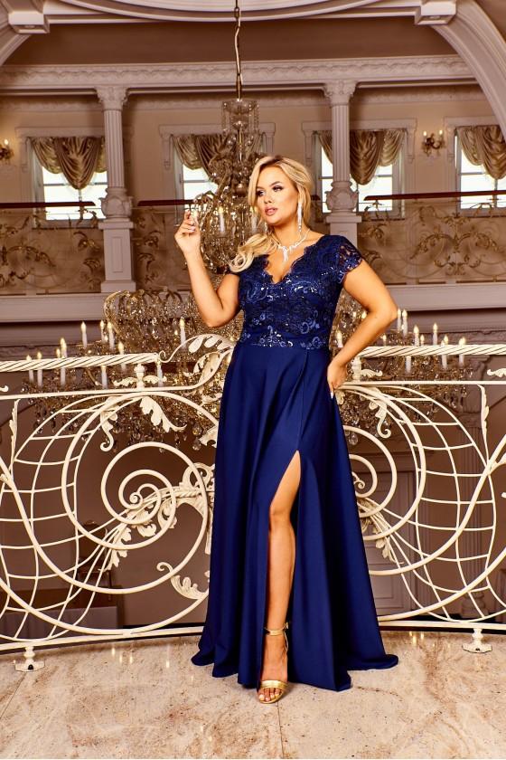 Elegantné spoločenské šaty 30055