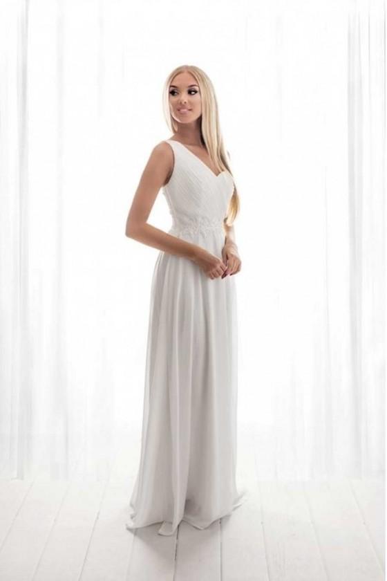 Pôvabné biele šaty 4189