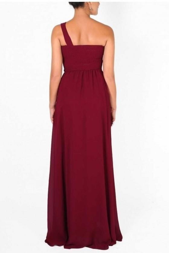 Elegantné šaty na jedno rameno 3229