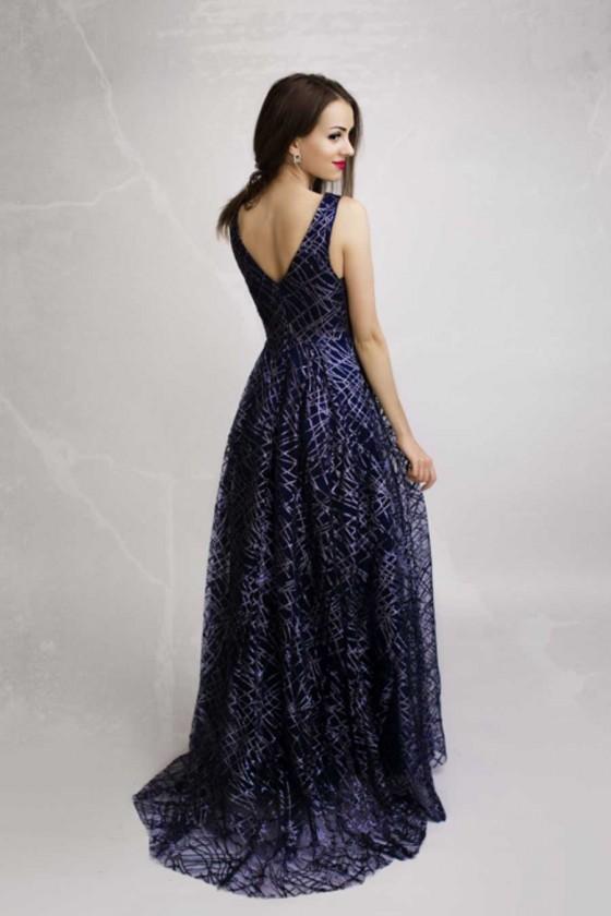Trblietavé popolnočné šaty 4156