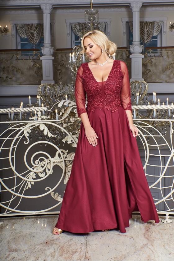 Elegantné dámske spoločenské šaty 3441