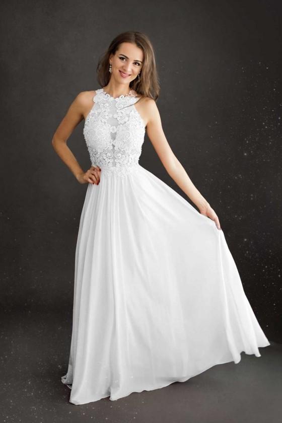 Svadobné šaty s čipkou 30043