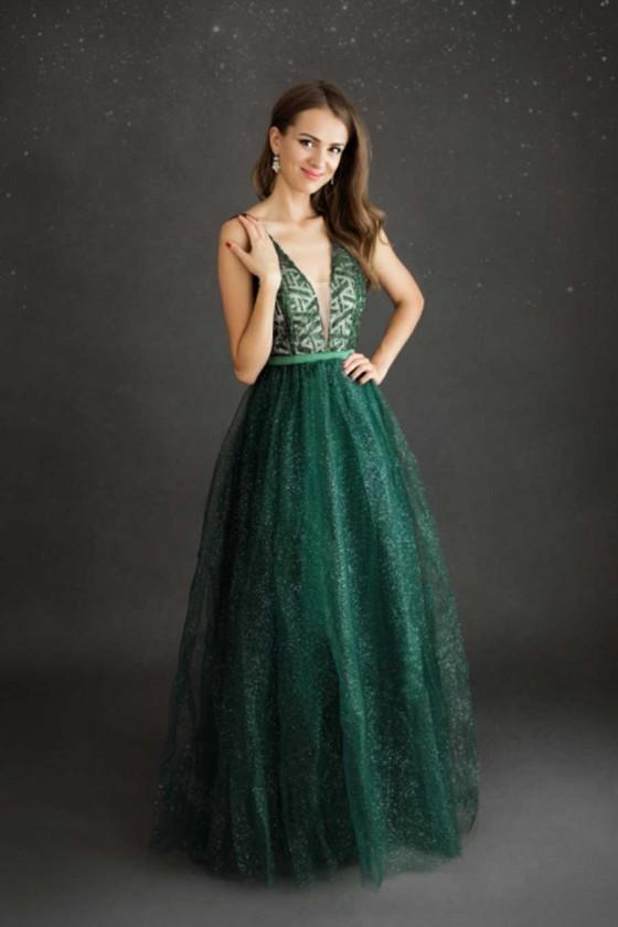 Nádherné zelené šaty 3430