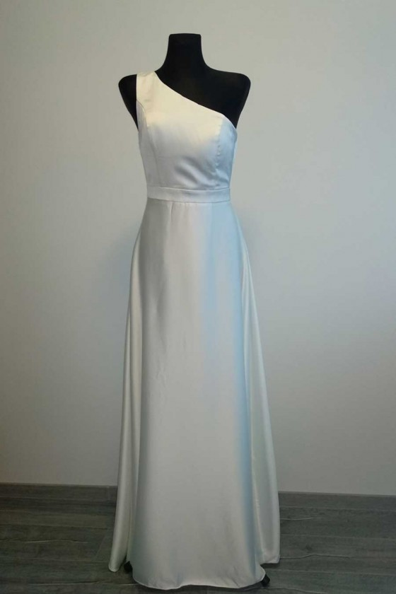 Svadobné šaty na jedno rameno 30042