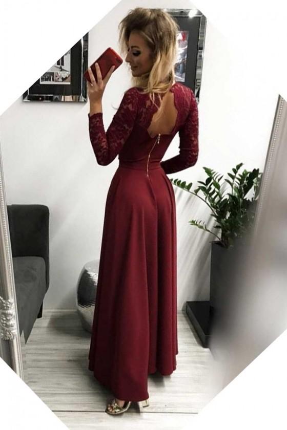 Dámske šaty s rukávom 30089