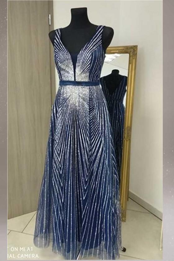 Prekrásne trblietavé dámske šaty 3424