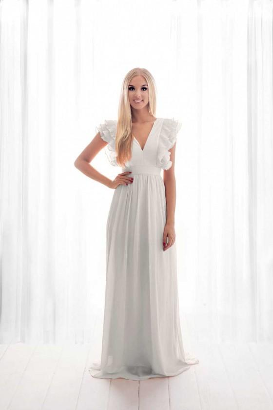 Pôvabné svadobné - popolnočné šaty 30096