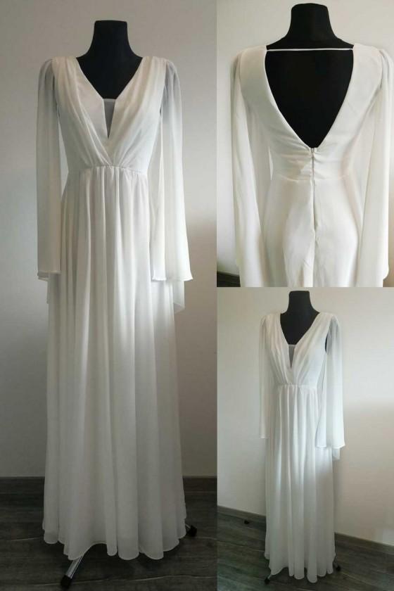 Pôvabné svadobné - popolnočné šaty 30097