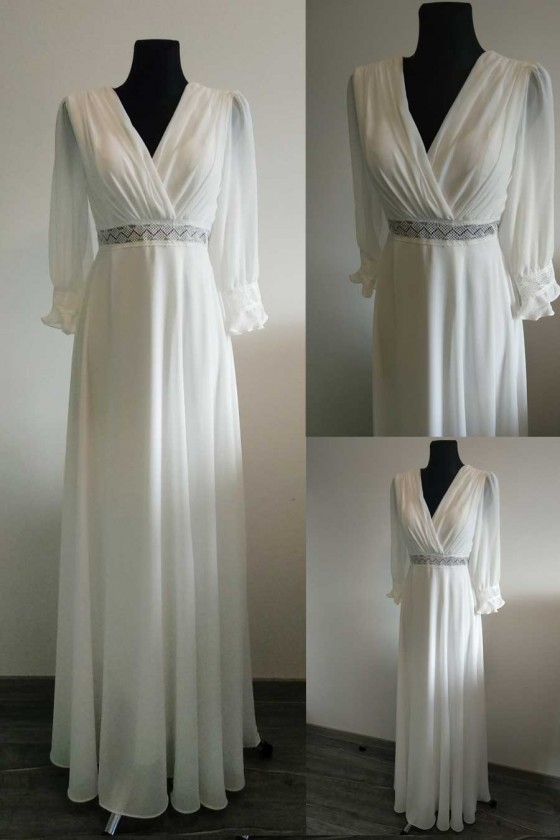 Elegantné svadobné - popolnočné šaty 30098