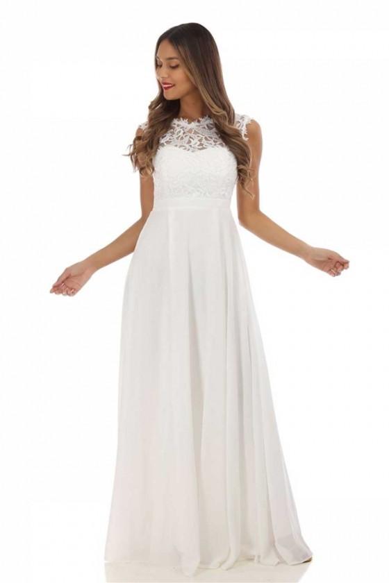 Pôvabné svadobné popolnočné šaty 30099