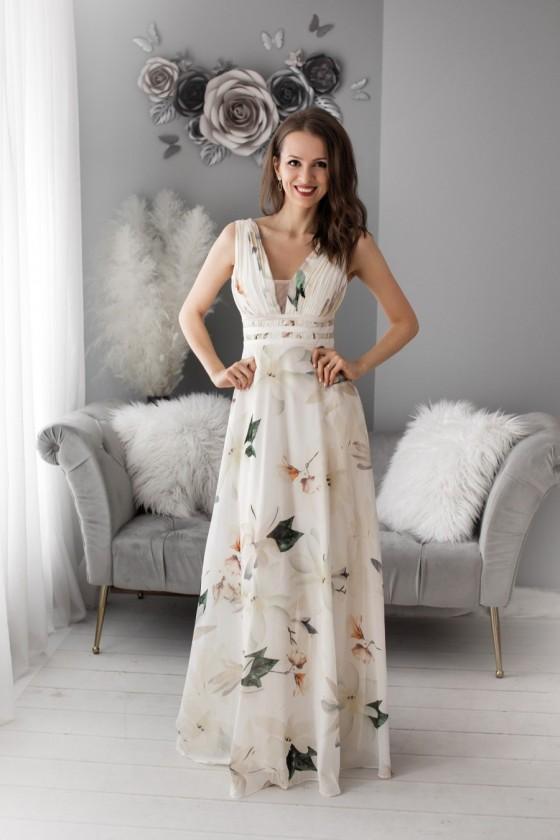 Kvetované spoločenské šaty...