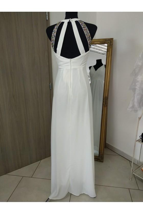 Jednoduché svadobné šaty 30053