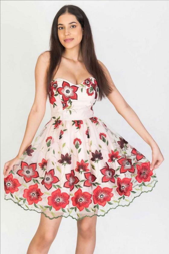 Nádherné šaty s kvetovým...