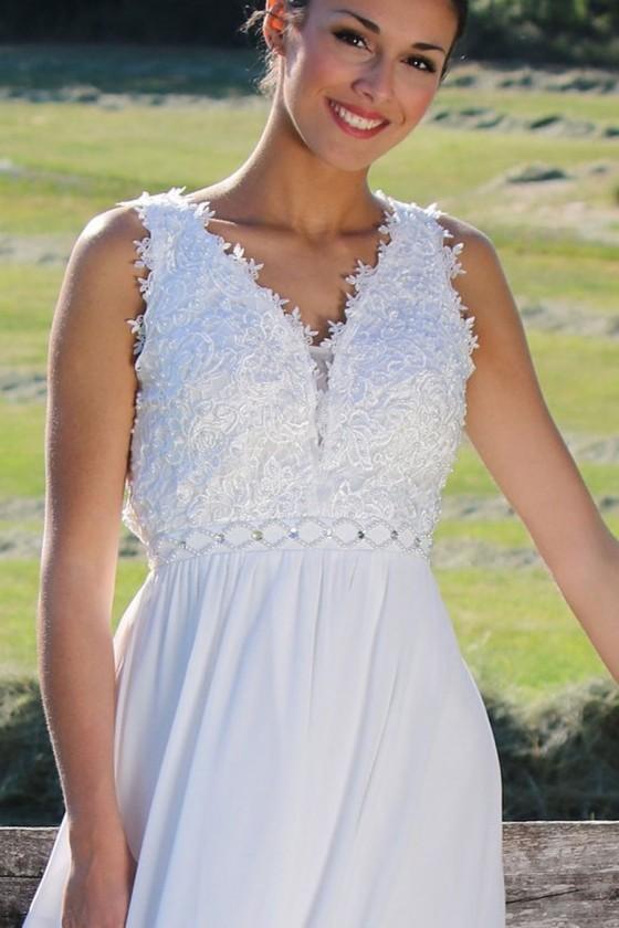 Pôvabné svadobné šaty 30081
