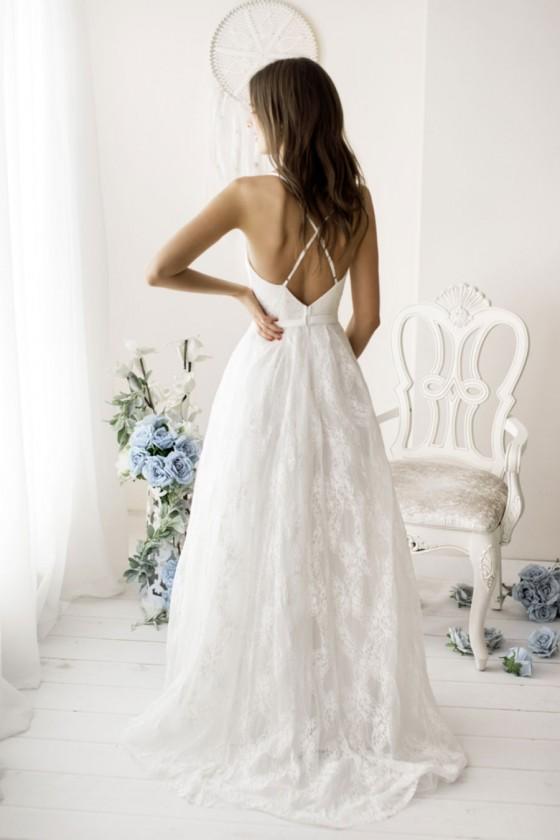 Čipkované svadobné šaty 30108